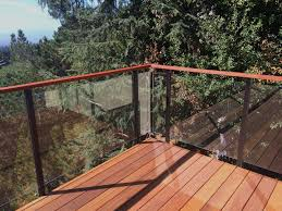 tempered gl deck railing cost of per square foot