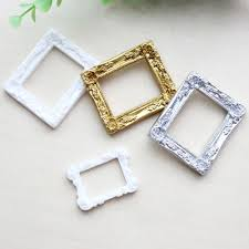 vintage resin mini white carved flower picture photo frame home wall decor craft