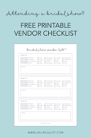 bridal show vendor checklist free printable Wedding Checklist Of Vendors it's important to connect with vendors who best align with the vision you have for your special day this free vendor checklist printable will help you wedding checklist of vendors