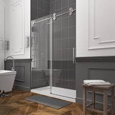 glass sliding shower doors frameless. OVE Decors Sydney 56-in To 59-in W Frameless Polished Chrome Sliding Shower Glass Doors