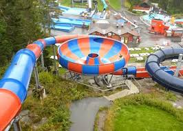 Swirly Slides Space Bowl Spiral Fiberglass Water Slide For Amusement Park