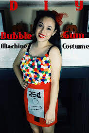 diy bubble gum machine costume