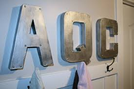 10 inch metal letters retropolitan faux zincindustrial metal letterstutorial on metal lettering wall art with 10 inch metal letters wall plate design ideas