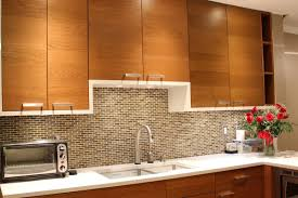 classic kitchen ideas with brown glass mosaic tile backsplash single handle pull down kitchen faucet