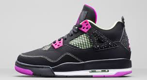 jordan shoes for girls 2015 black and white. shoe: girls\u0027 air jordan 4 retro colorway: white / fuchsia flash - liquid lime year: 2015 shoes for girls black and