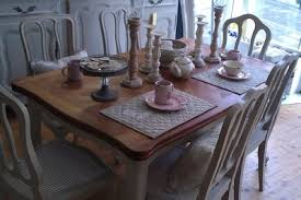 shabby chic dining room furniture. french louis oak dining table u0026 6 chairs painted shabby chic room furniture o