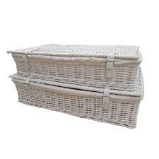 White Wicker Underbed Storage Baskets X Large: Amazon.co.uk: Kitchen U0026 Home