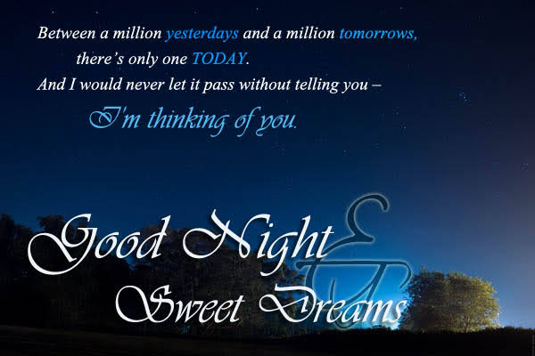 best good night messages for her