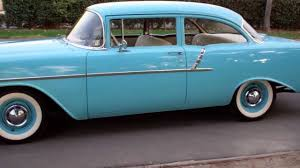 SOLD 1956 150 Post Chevy Nassau Blue w/Beige-Black interior, 235 ...