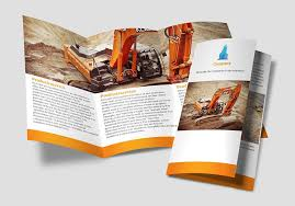 make tri fold brochures construction company tri fold brochure sample made on the