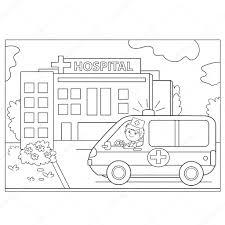 Disegni Ambulanza Disegni Da Colorare Pagina Muta Di Ambulanza