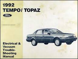 1992 ford tempo and mercury topaz wiring diagram original 1992 ford tempo mercury topaz electrical vacuum troubleshooting manual