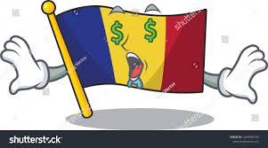 Flag Hoisting Pole Design Money Eye Romanian Flag Hoisted On Stock Vector Royalty