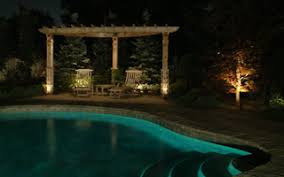 Inground pools at night Night Time Night Time Pool With Gunite Inground Swimming Pool All Custom Design For An Installed Pool Doughboy Pools Swimming Pool And Landscaping Construction And Repair