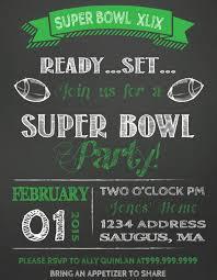 Sale Super Bowl Party Invitation Template Perfect Super Bowl