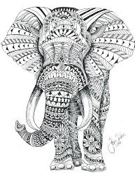 Printable Elephant Coloring Pages Elephant Mandala Coloring Pages