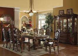 traditional dining room designs. Traditional Formal Dining Room Unique Carved Double Pedestal Legs Long Oval Table Looking Decorating Ideas Designs