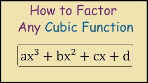 how to factor a cubic function