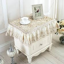 nightstand tablecloth bedside table cover fabric cabinet radiator lace dust proof table cloth bedside table round