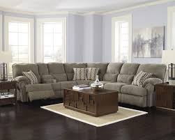 sectional with a sleeper sofa on one side and the other reclining seat5