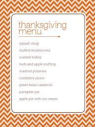 customizable thanksgiving menus orange and white thanksgiving menu chevron stripe