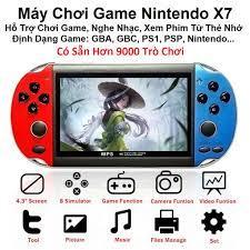 Máy Chơi Game, Tặng Tai Nghe Máy Có Sẵn Hơn 9000 Trò Chơi Arcade GBA PSP X7  - Hỗ Trợ Lắp Thẻ 8G - Copy Thêm Game giá cạnh tranh