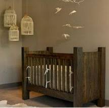 rustic crib furniture. rustic baby nursery decor with recycled homemade wooden crib furniture
