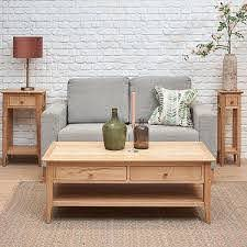 to large coffee table with drawers