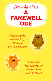American Greetings Templates Printable Card A Farewell Ode Good Luck Cards