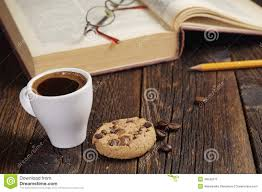 Cookie Coffee Cups Coffee Cup And Old Book Stock Photo Image 46042071