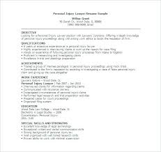 Examples Of Legal Resumes Resume Sample Source