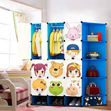 kids storage cabinet. Exellent Kids NEW Kids 12 Cubes Wardrobe Childrens Storage Cabinet Boxes Character Design  Shoes Corner Pink Green Blue Blue Amazoncouk Kitchen  With E