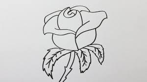 Comment Dessiner Une Rose Facilement Youtube