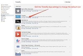facebook ticketfly so you can make your buy tickets app match the rest of your brand click on the apps tab and select edit settings by the ticketfly app