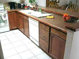 how to attach countertop how to install laminate attach base cabinets wood edge detail for a cost in kitchen