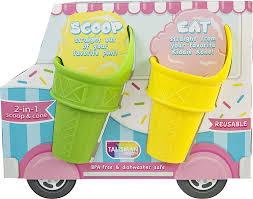 Talisman Designs Party Picks Talisman Designs 3650 Kiddie Reusable Mini Scoop Cones Set Of 4 Multicolor