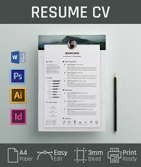Free Resume Cv Design Template Cover Letter In Doc Psd Ai Indd