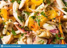 Homemade Cold Seafood Salad Stock Image ...