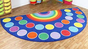 rainbow semi circle placement carpet mat1035 for rug decor 5