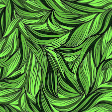 Abstract Pattern Amazing Vector Seamless Abstract Pattern With Bright Leaves Clipping Masks
