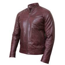 men s black leather jacket crinkle retro pacific