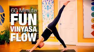 60 min fun vinyasa flow yoga cl five parks yoga