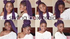 Box Braids Hair Style How I Style Box Braids 8 Quick Hairstyles Youtube 3829 by wearticles.com