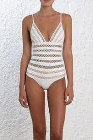 Buy White Plunged <b>V</b> Lattice Hollow Out One Piece Luxury Swimsuit ...