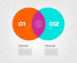 Infographic Venn Diagram Venn Diagram Infographics For Two Circle Design Vector And Marketing