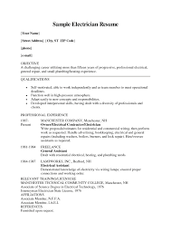 Electrician Resume Template Free Electrician Resume Template Free Sample Resume Cover Letter Format 12