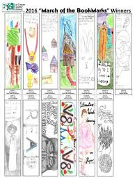 Winners Named In Library Bookmark Contest Couleecourier