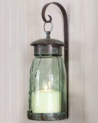 quart mason jar glasetal hanging candle wall sconce