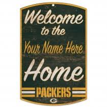 packers personalized wele to our home wood sign