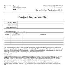 Job Transition Email Template
